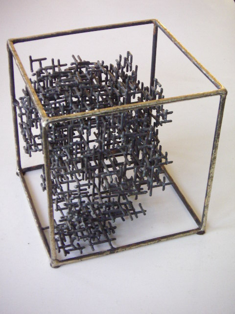 Welded Metal Table Sculpture