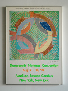 Signed Frank Stella 1980 Democratic Convention Poster