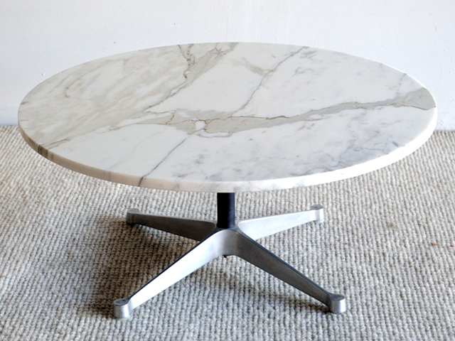 Eames Aluminum Group Marble Top Coffee Table