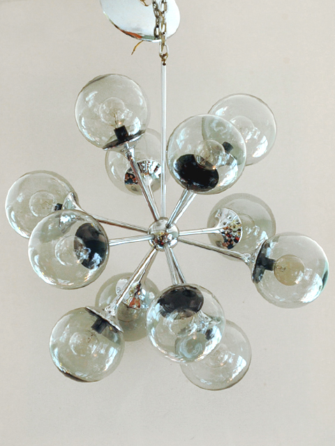 Lightolier Chrome Sputnik Ceiling Fixture