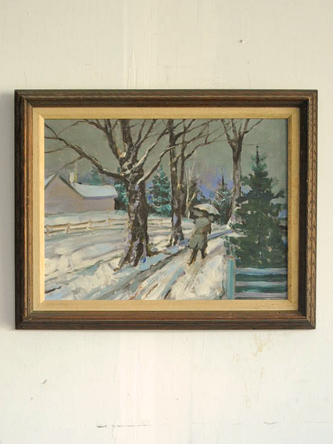 Mildred Levy Rosenthal Oil on Board Painting