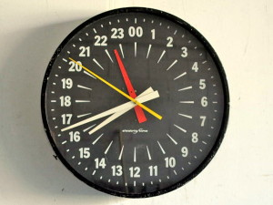 1940s Electric Time Military 24 Hr Clock