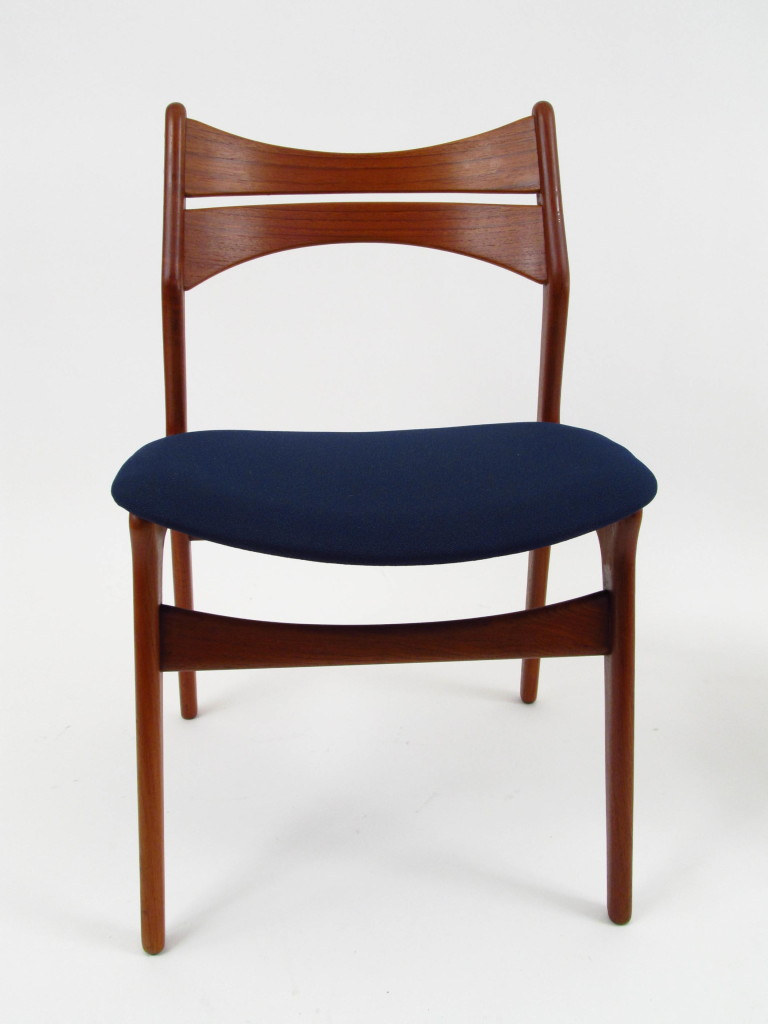 Set of 6 erik buch design danish teak dining chairs for Buch design