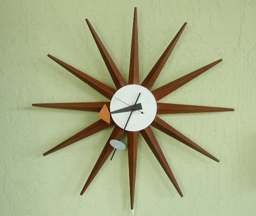 George Nelson Sunburst Clock Howard Miller