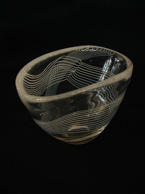 Stig Lindberg Striped Bowl