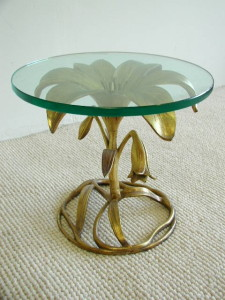 Arthur Court Aluminum Flower Table