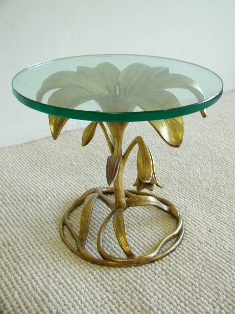 Arthur Court Aluminum Flower Table Ca 1970s Modernaire