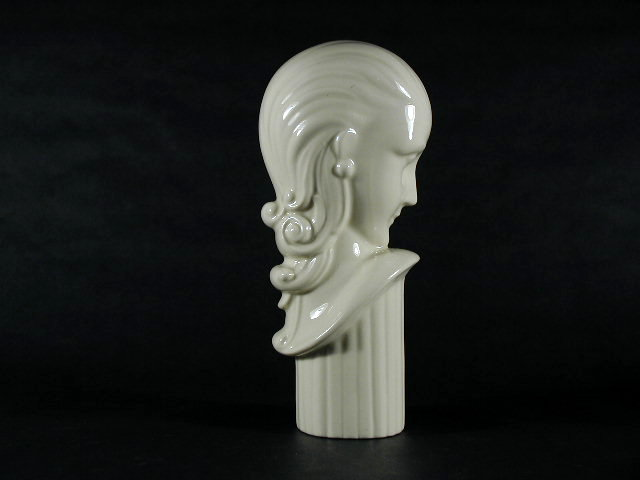 Art Deco Ceramic Female Bust