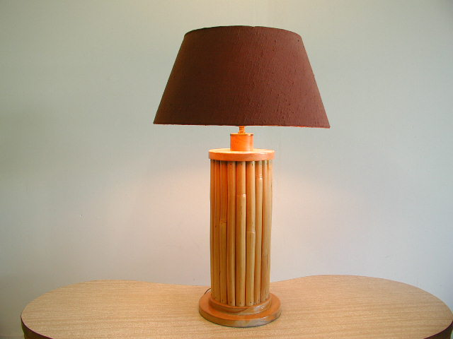 1940s Rattan Table Lamp