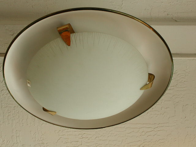 1950s Flush Mounted Ceiling Fixture