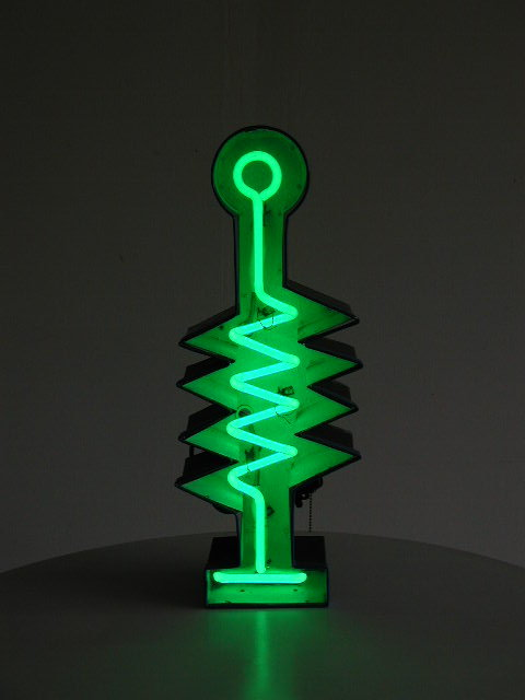 Green Neon Pop Art Sculpture