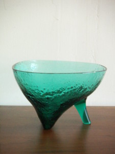 Rare Wayne Husted Blenko High Heel Bowl.