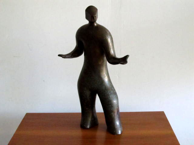 Gestural Bronze Figure by Fred Yokel