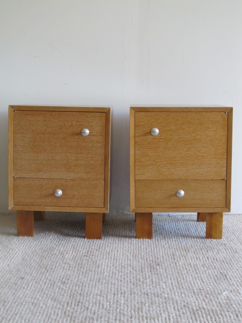 Pair of Early George Nelson Herman Miller Nightstands